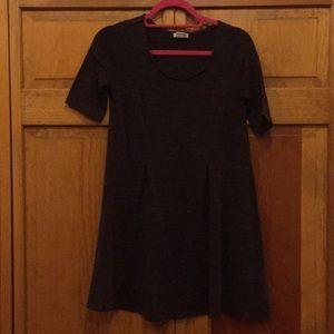 Dark Purple Short Sleeve Sweater Dress